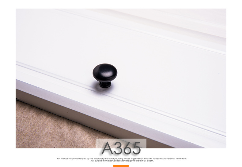 Hb36e55b59cf54f0e9a40e842472dfc99y - American Modern Style Black Cabinet Handles Solid Aluminum Alloy Kitchen Cupboard Pulls Drawer Knobs Furniture Handle Hardware