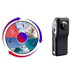 Md80 mini câmera hd detecção de movimento carro dv dvr gravador de vídeo câmeras de segurança gravação de um clique
