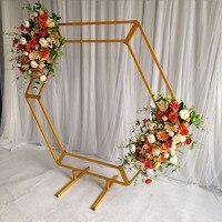 Venta https://ae01.alicdn.com/kf/Hb36e7b20b0be4fc7ab4ec646258fd421n/Fondos de boda florero accesorios de exhibición de arches hexagonales de hierro soporte de marco de.jpg