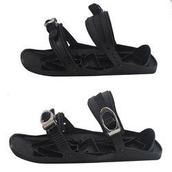 Neue Mini Ski Skates für Schnee Die Kurze Skiboard Snowblades Hohe Qualität Einstellbare Bindungen Tragbare Skifahren Schuhe
