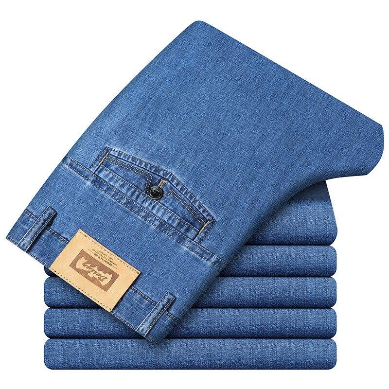 Spring Jeans Men Brand Jeans Hombre Cotton Smart Casual Men's Jeans Pants Men Straight Jean Homme Plus Size 28-42