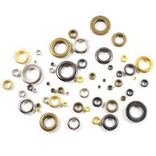 100pcs Metal 4mm Mix Colors Eyelets Buckle Scrapbook + 1pcs Punch Tool LeatherCraft DIY