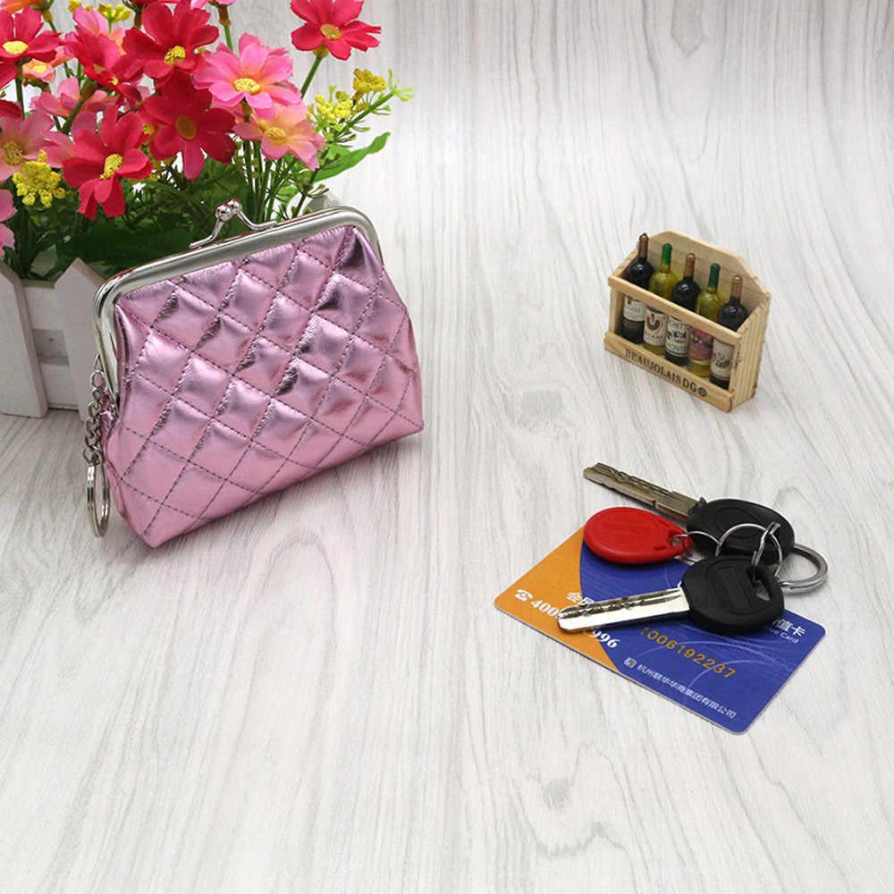 Femmes Mini portefeuille porte-carte en cuir PU petit porte-monnaie dame fille argent pochette sac à main enfants portefeuilles pochette