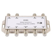 DS81 8 in 1 Satellite Signal DiSEqC Schalter LNB Empfänger Multischalter Heavy Duty Zink druckguss Chrom Behandelt