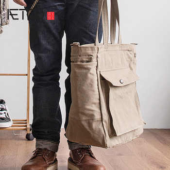 AETOO Japanese literary satchel canvas man retro shoulder crossbody bag literary handbag - DISCOUNT ITEM  40% OFF All Category
