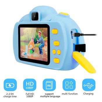 Aparat cyfrowy dla dzieci aparat fotograficzny dla dzieci aparat fotograficzny dla dzieci aparat cyfrowy 18MP HD 2 4 cali ekran Dual Selfie gra wideo kamera tanie i dobre opinie NoEnName_Null 2x CN (pochodzenie) Brak CMOS 2 3 cali 15-45mm 5 0MP Digital Camera
