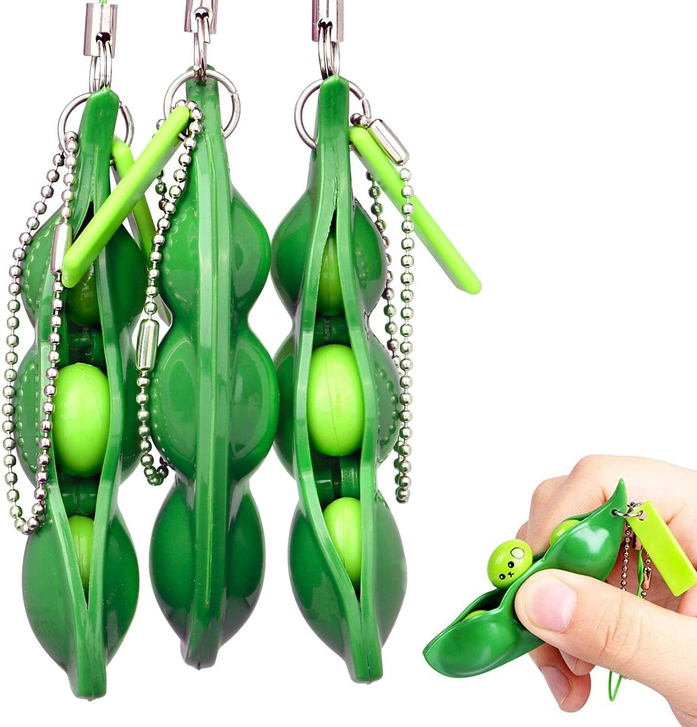 Squishy Toys Keychain Bean Peas Gifts Stress Relief Simple-Dimple 1-5pcs Creative Pop img3