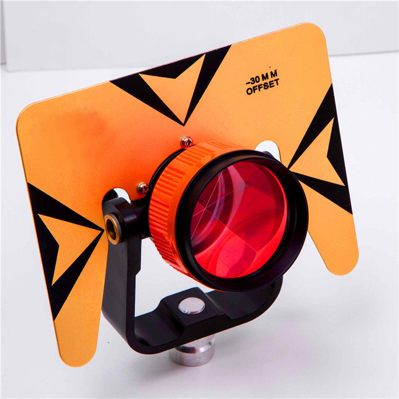 NEW Yellow Color Single Prism with Bag for Total Station 5 8x11 Thread