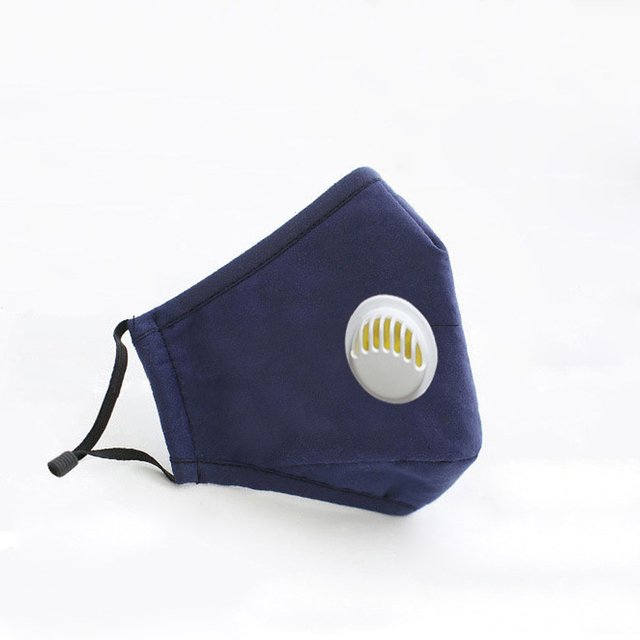 Anti Pollution PM 2.5 Mouth Mask Dust Respirator Washable Reusable Masks Cotton Unisex Mouth Activated carbon filter mask 5