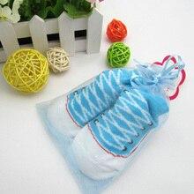 Socks 1 pair Three-dimensional sock boy girl striped tube baby deodorant sweat-absorbent cotton non-slip 0-12 months Unisex soft