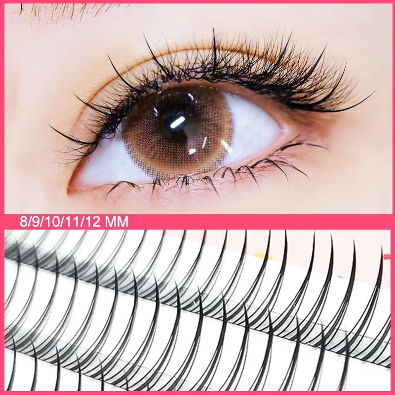 Yelix A/M Shape Professional Makeup Individual Lashes Cluster Natural Fluffy false eyelashes  3d Mink  Eyelash extension