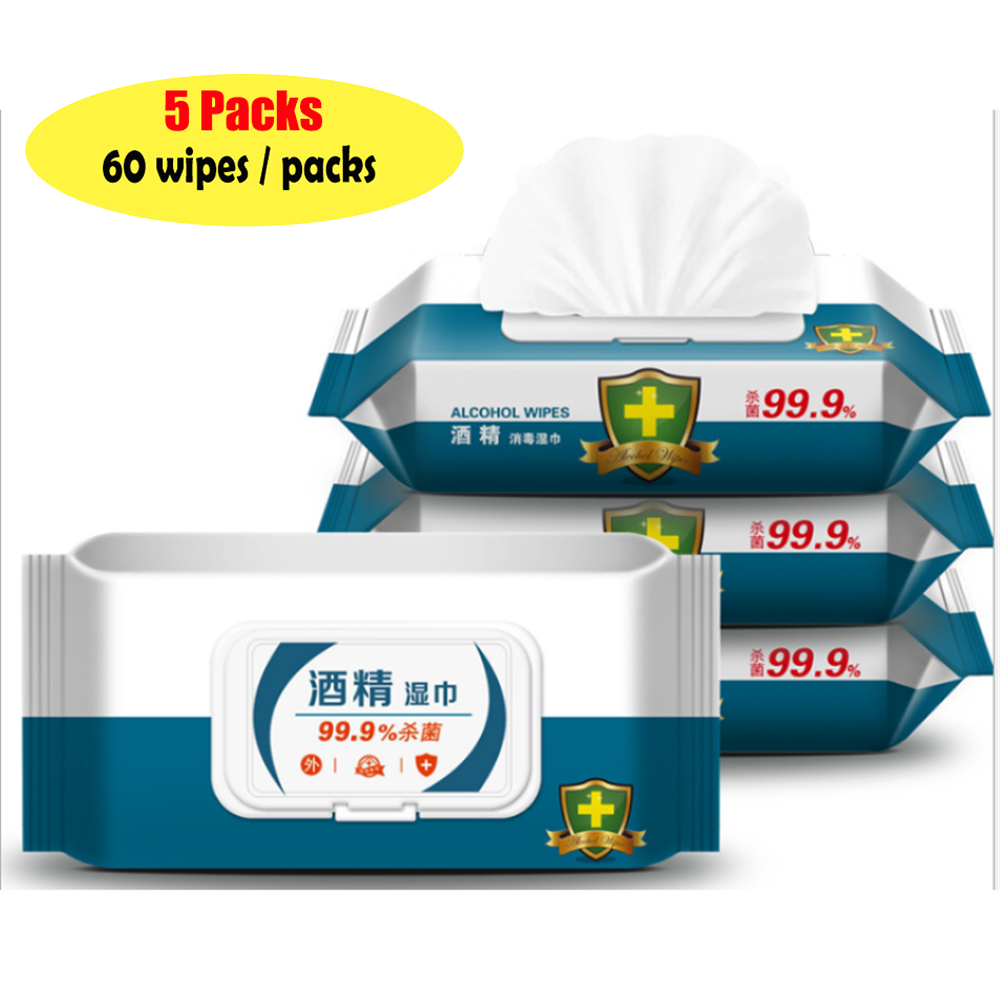 75% Effective Alcohol Disinfecting Wipes Disposable Sterilization Hand Wipes Skin Wipes Antibacterial Bacteria Cleaning Wipes