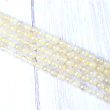 Blond Hair Natural Stone Beads For Jewelry Making Diy Bracelet Necklace 4/6/8/10/12 mm Wholesale Strand
