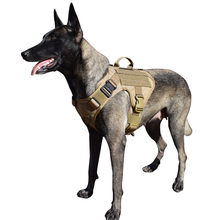 MXSLEUT Tactical Dog Harness K9 Vest Molle military dog clothes K9 harness adjustable size with 2X Metal Buckle