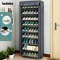 Многоуровневый простой шкаф для обуви, сборный органайзер для обуви «сделай сам», компактная полка для хранения, шкафчик для обуви