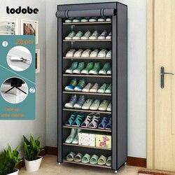 Armoire à chaussures multicouche Simple, organisateur de chaussures, peu encombrant, étagère de rangement pour dortoir à la maison, placard anti-poussière