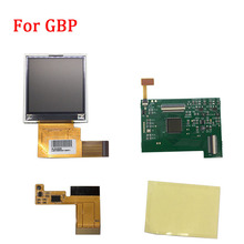 Replacement LCD Screen Kits for GBP Screen Backlight with ribbon cable for Nintend GBP LCD Screen High Light Gamepad Console NEW