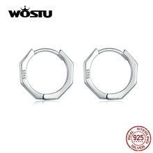 WOSTU – boucles d'oreilles créoles en argent Sterling 925 pour femmes, bijoux pour fête de mariage, Style Original, CQE622, 925