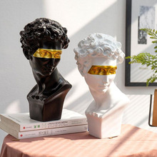 European Home Decoration Head Resin Statue Modern Abstract Art Mini Bust Sculpture Art Sketch Practice Masked Creativity