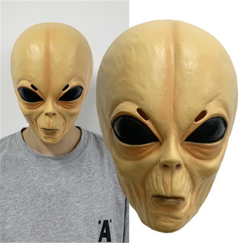 Halloween Creepy Latex UFO Big Eyes Alien Full Head Party Mask or Adults Masquerade Costume Party Cosplay Horror Alien Mask