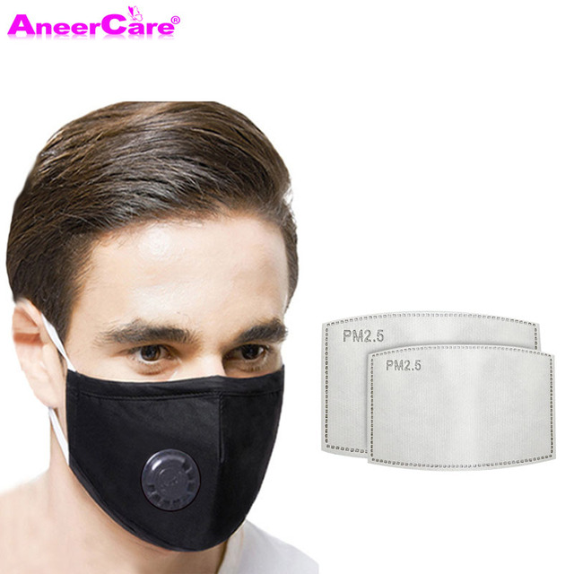 dust respirator face mask carbon filter mask PM2.5 1Mask+10 Filter N95 Respirator Mask reuse flu face masks air pollution 1
