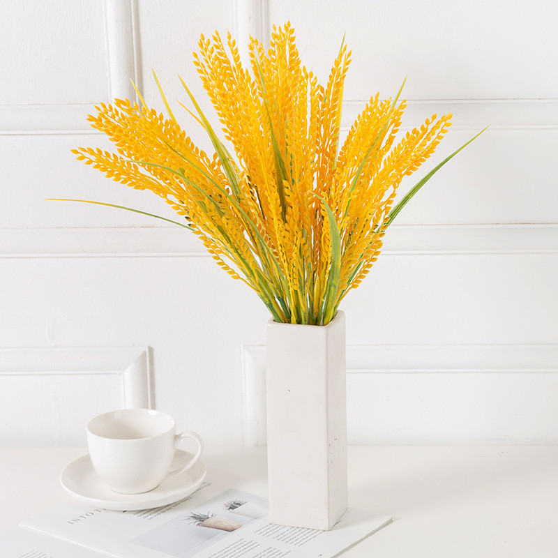 1pcs Artificial Plant Simulated Rice for Wedding Autumn Decor Simulated Grain Seedling Paddy Fake Plastic Flower Home Fall Decor|Artificial Plants| - AliExpress