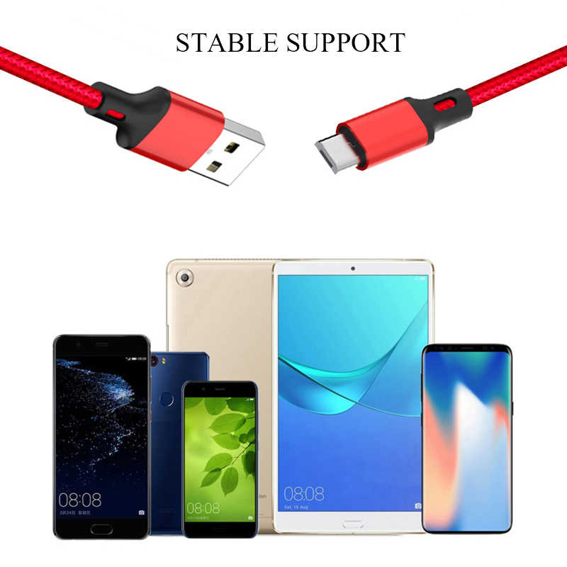 C tipi mikro USB kablosu 2.4A veri şarj kablosu Samsung Huawei Xiaomi LG android mikro Usb cep telefonu kabloları USB C kablo