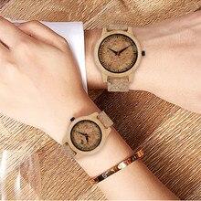Coppia creativa orologi in legno Corkwood cinturino amanti del quarzo orologi da polso regali san valentino presente nuovo arrivo 2020