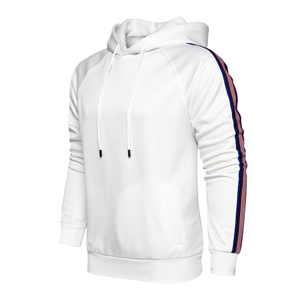Sweatshirt Men Hoodies Jacket Striped Spring Autumn Sweatshirts 2020 Mens Casual Pullover Long Sleeve Hoodie Male Oversize Loose