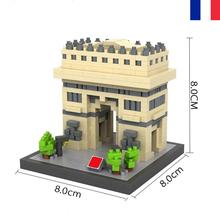 LegoINGlys city creators Street view Triumphal Arch of Paris France mini Micro Diamond Building Block model brick toys for gifts