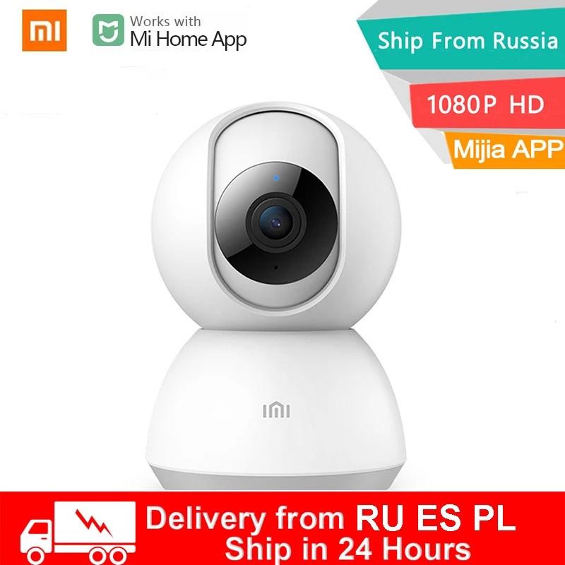 Xiaomi-cámara web inteligente IP 1080P, WiFi, Pan-tilt visión nocturna, vídeo de 360 ángulos, Monitor de seguridad inalámbrico para bebés, aplicación Mi Home