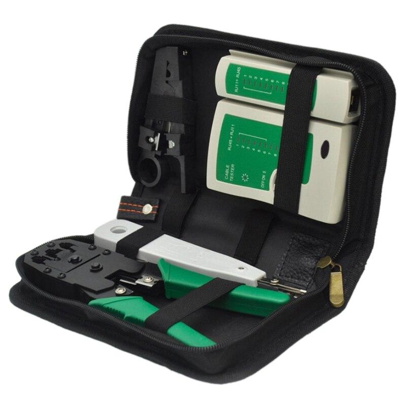 5Pcs/Set Network Ethernet Cable Tester Rj45 Kit Crimper Crimping Tools Punch Down Rj11 Cat6 Wire Detector Qjy99 Stripping Crimpi