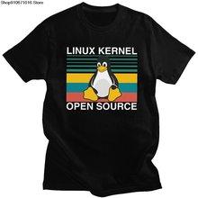 Модная ретро футболка linux с открытым исходным кодом короткими