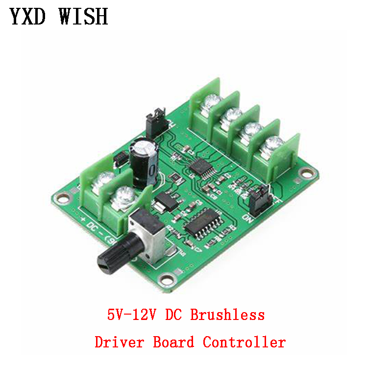 <font><b>5V</b></font> <font><b>12V</b></font> <font><b>Brushless</b></font> <font><b>DC</b></font> Motor <font><b>Driver</b></font> Controller <font><b>Board</b></font> with Reverse Voltage Over Current Protection for Hard Drive Motor 3/4 Wire image