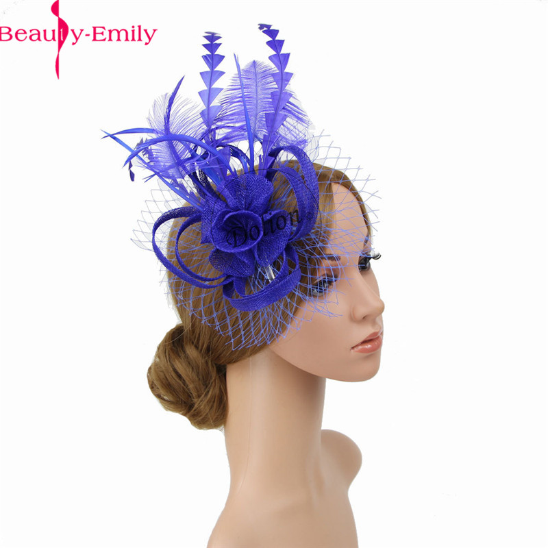 2020 New Arrival Women Chic Fascinator Hat Cocktail Wedding Party Church Headpiece Fashion Headwear Hair Clip Accessories
