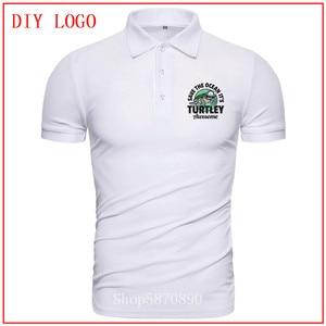 cute Turtley polo shirt man printed Tees Short Sleeves Summer Tops Comfortable All Cotton Tees fashion Color diversified T-shirt