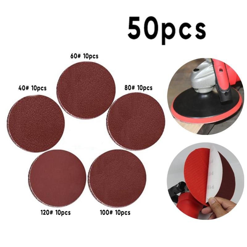50Pcs Sandpapers 50mm 40-3000 Grit Disc Polishing Pad Kits Sheet Polisher 50x