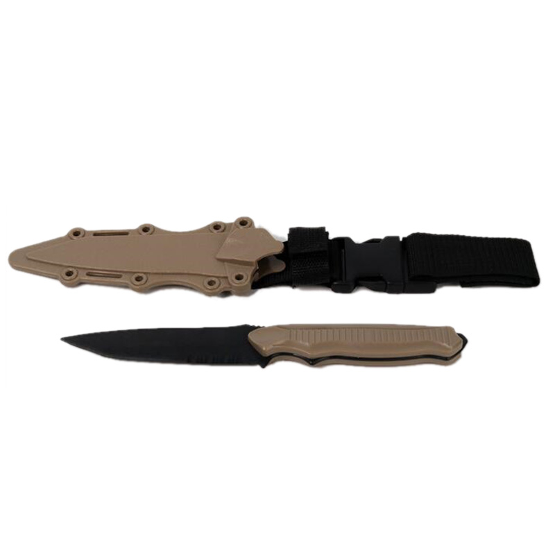 Outdoor Enthusiasts M9 Cs Cosplay Prop Combat Bayonet Modeling Rubber Train Sheath Knife Model Toy Sword,Mud