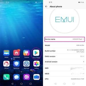 Image 4 - HONOR Play 3 мобильный телефон HONOR play 3 6,39 дюймов Kirin710F Восьмиядерный Android 9,0 разблокировка лица GPU Turbo 3,0 Поддержка Google play
