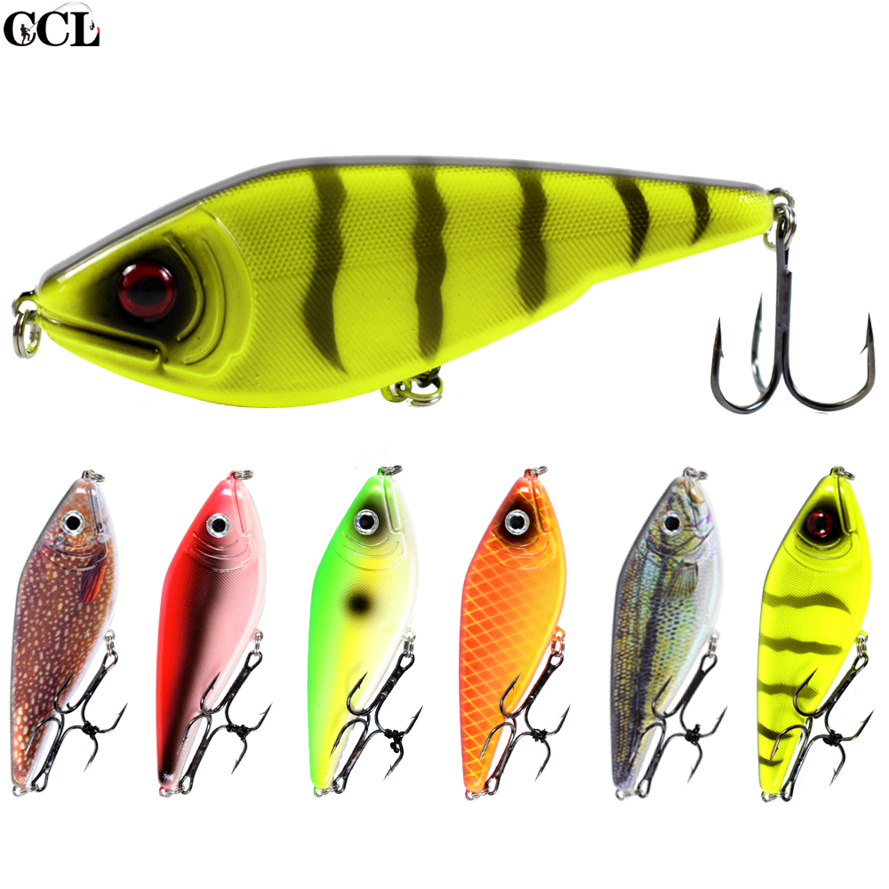 CCLTBA 9CM 26G Freshwater Fishing Lures Hard Wobbler Suspending Pike Bass Musky Jerkbait Fishing Lure