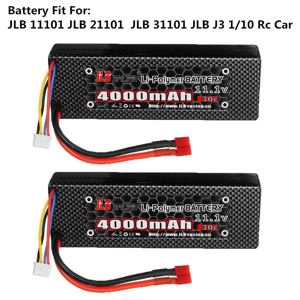 Batería Lipo Original JLB Series RC racing 11,1 V 4000mAh 30C 3S para JLB Series 11101 21101 31101 J3 1/10 Rc, batería de repuesto para coche Drone 22 en 1, accesorios prácticos para Hobby, simulador RC de fácil instalación, juguete libre con Cable USB para RealFlight G7