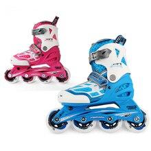 Sneaker Roller-Skates Patins Kids Sport-Shoes Adjustable Outdoor Children Four