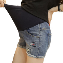 M-XXL Maternity Jeans for Pregnant Women Pregnancy High Waist Fit Shorts  Summer Clothes