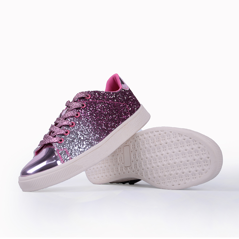 2020 New Fashion Design Shiny Vamp Sneakers Women Flat Skateboarding Shoes Female Bling Hip hop Trainers zapatillas superstar