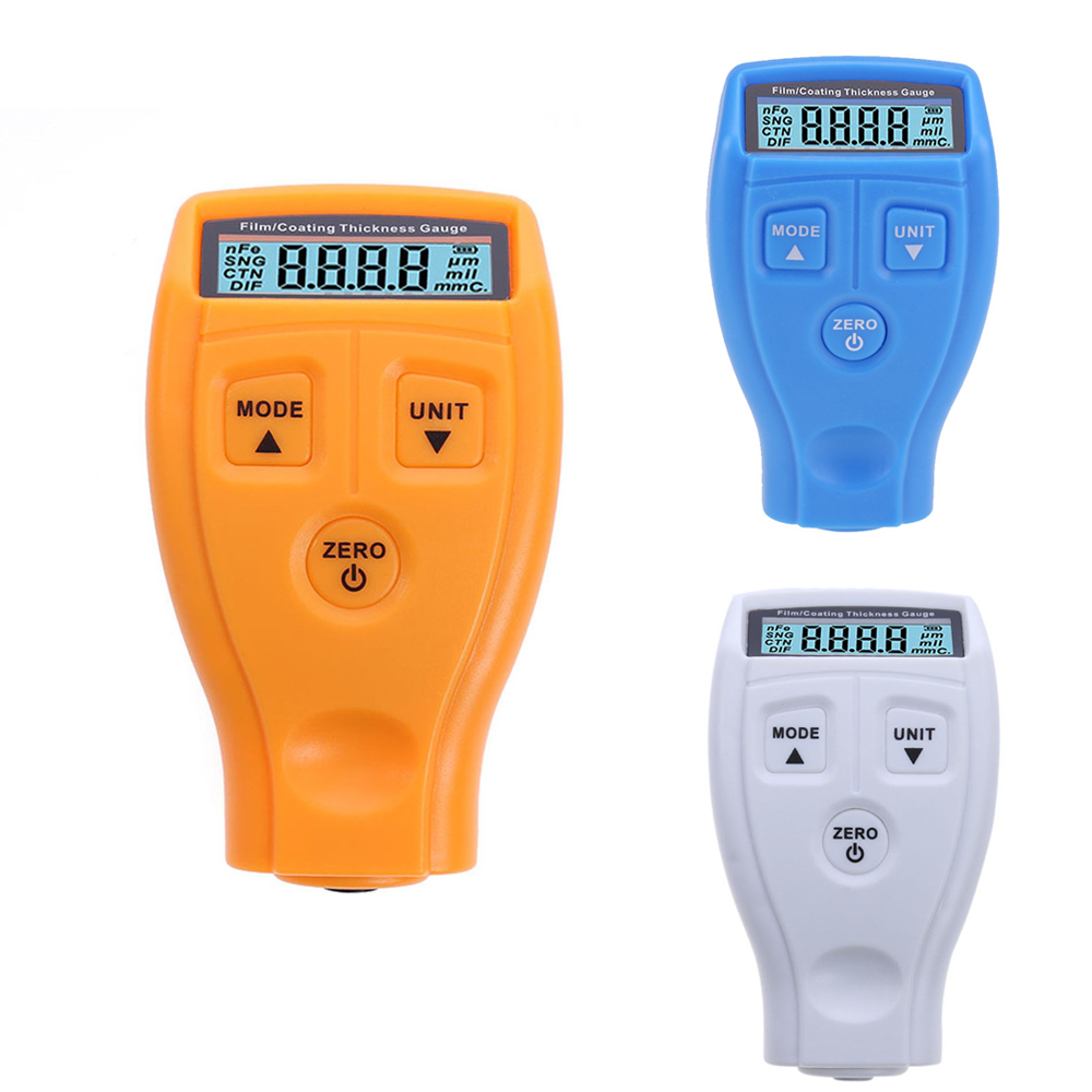 GM200 Car Film Paint Thickness Gauge Portable Paint Coating Thickness Car Surface Measure Instruments Meter With LCD Display