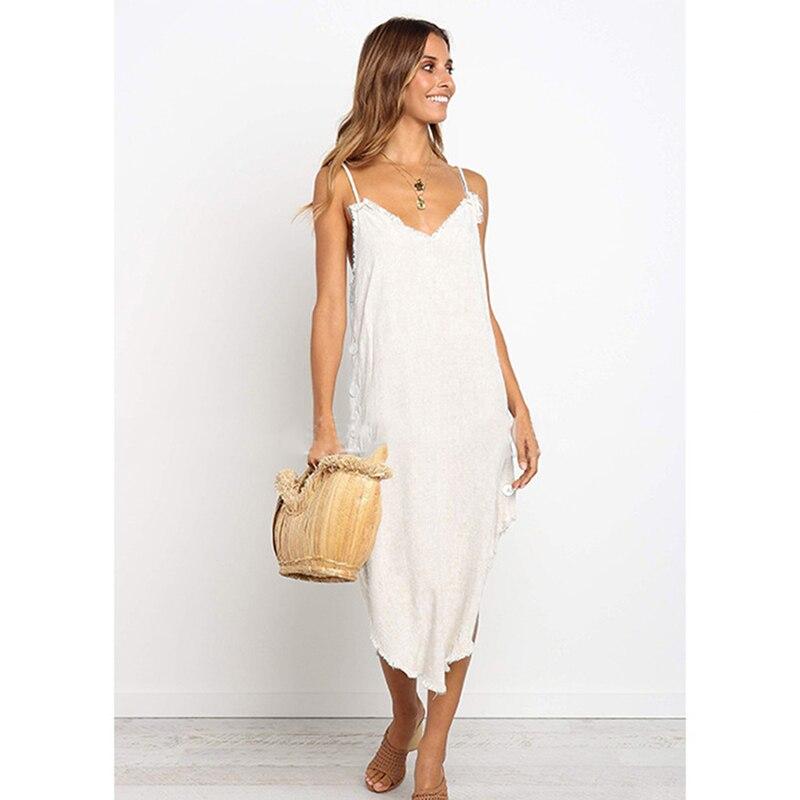 Новинка 2020, женское летнее пляжное сексуальное платье в стиле бохо, Пляжное праздничное платье, подвязка на бретельках, длинное платье для