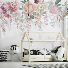 European Retro 3D Rose Flower Butterfly Wall Papers