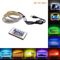 Светодиодные ленты светильник USB 2835SMD DC5V гибкие светодиодные лампы лента RGB 1 м 2 м 3 м 4 м 5 м ТВ Настольный Экран задняя светильник Диодная лент...