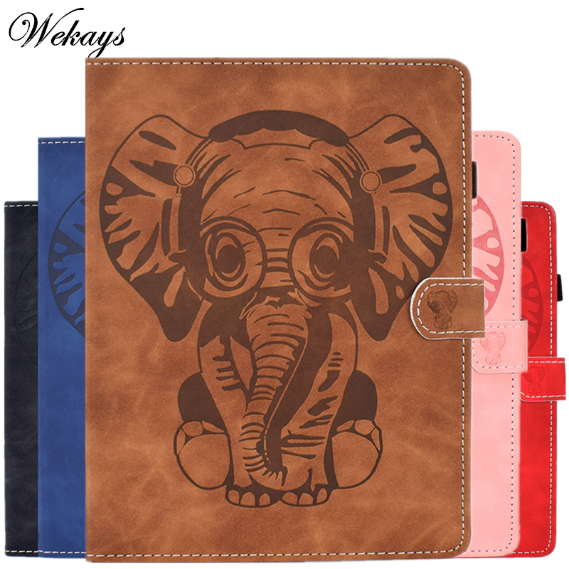 Cover Coque For Apple Ipad Air Ipad 5 A1474 A1475 <font><b>A1476</b></font> Cartoon Elephant Leather Case For IPad Air IPad 5 IPad5 9.7 Covers Cases image