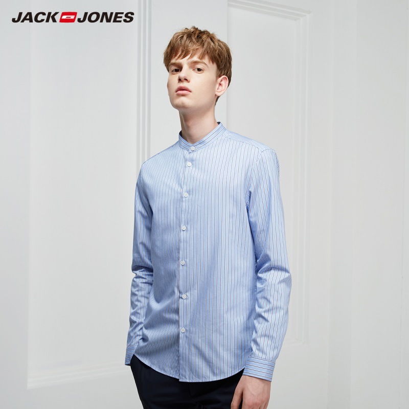 JackJones Men's Smart Casual Stripe Pattern Long-sleeved Shirt Style 219105533